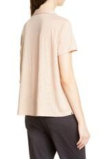 Eileen Fisher Eileen Fisher S/S Linen Button Up Top Beige Sz L