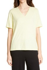 Eileen Fisher Eileen Fisher V-Neck Striped Top