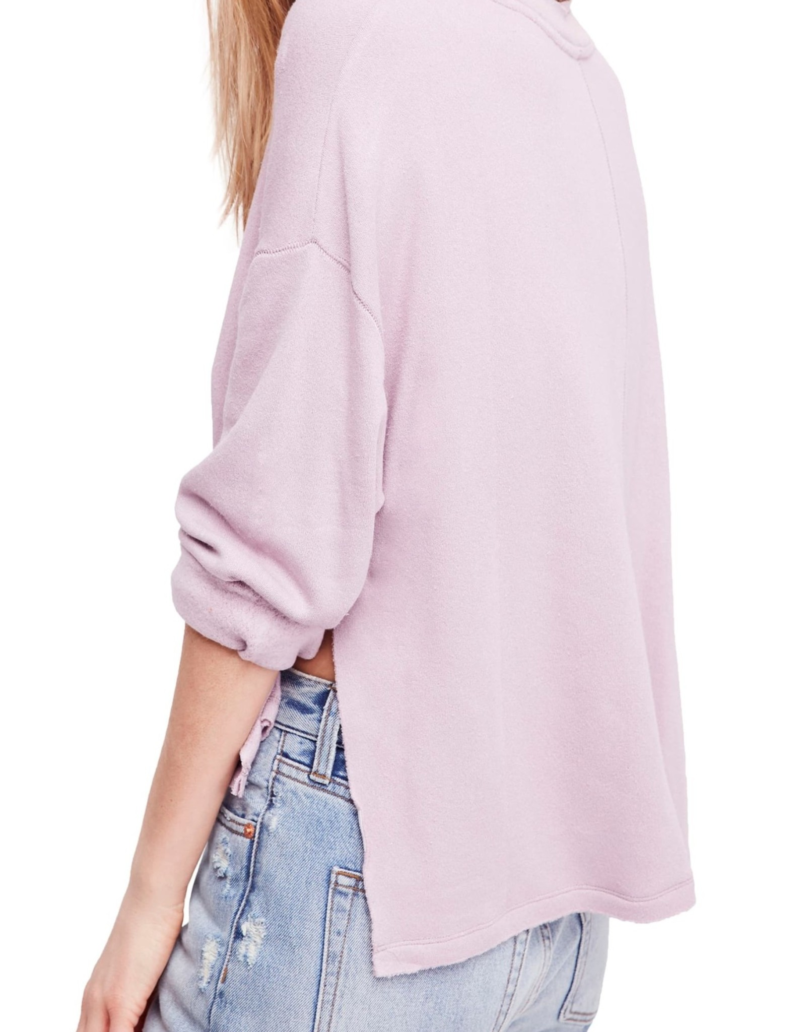 Free People Free People Be Good Terry Pullover Sz L