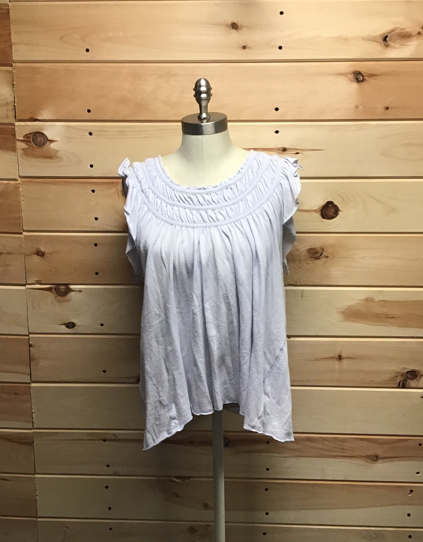 Free People Free People Light Blue Coconut Top Sz S