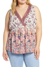 Lucky Brand Lucky Brand Floral Romantic Top