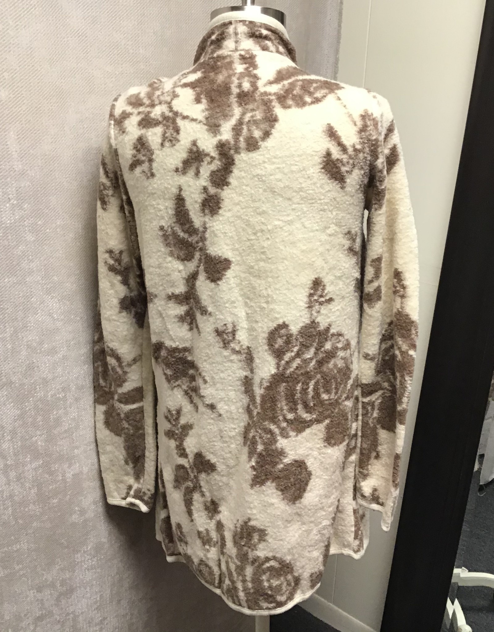 Lucky Brand Lucky Brand Floral Drape Cardigan