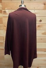 SANCTUARY Sanctuary Burgundy Cardigan Size 2X