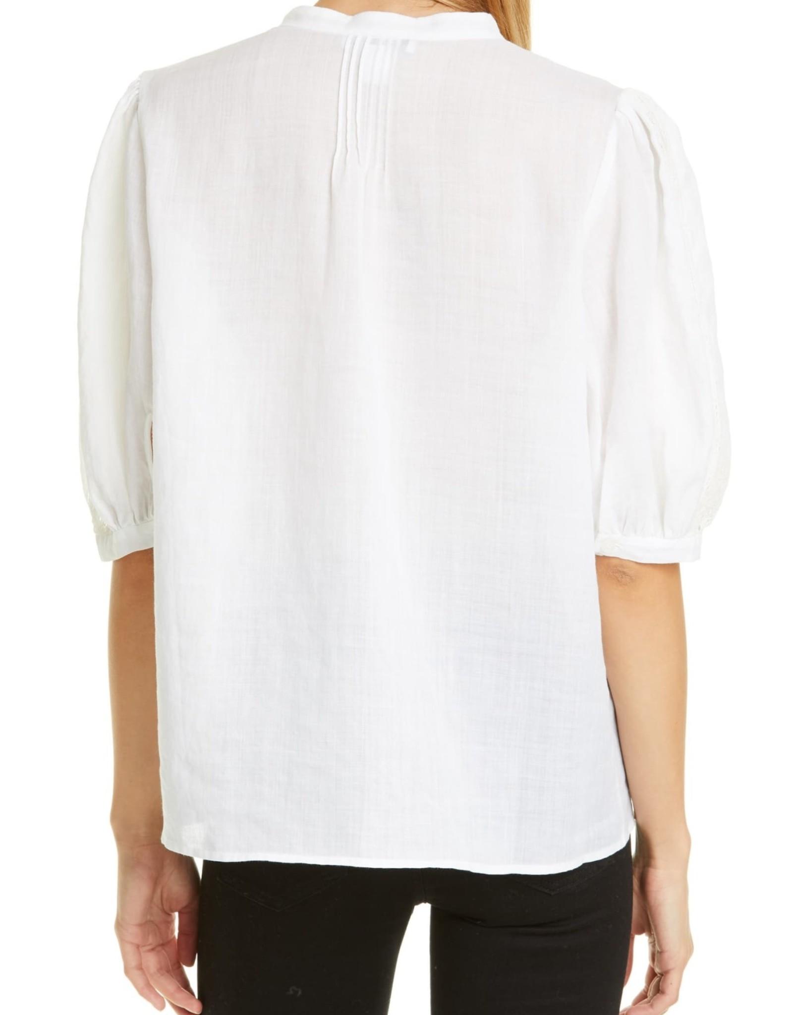 Nordstrom Signature Nordstrom Signature Lace Insert Cotton Blouse Sz XL