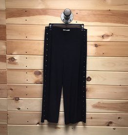 MICHAEL KORS Michael Kors Black Button Stretch Pants