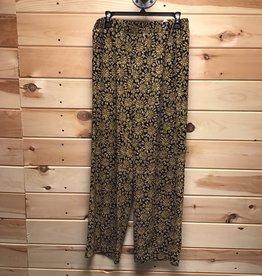 MICHAEL KORS Michael Kors Black and Gold Wide Leg Pants