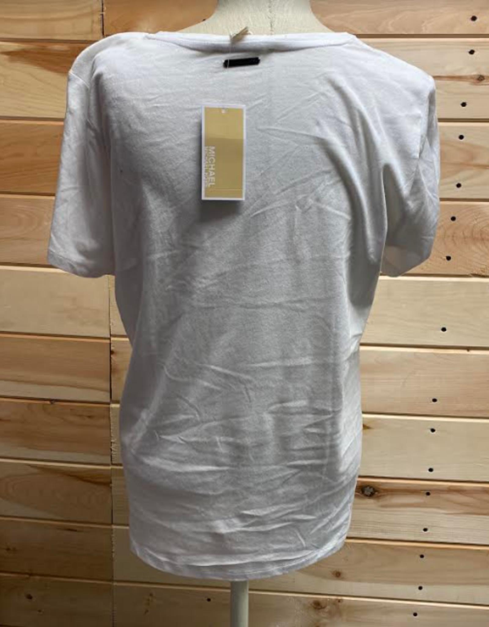 MICHAEL KORS Michael Kors White T-Shirt Size XS#108F