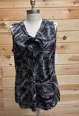 MICHAEL KORS Michael Kors Leaf Print Tie-front Tank Top Size XL
