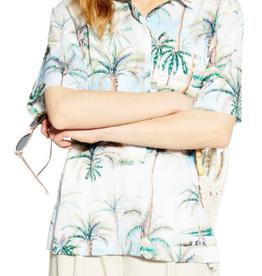 Topshop Topshop Hawaiian Peint Bowler Shirt Size M