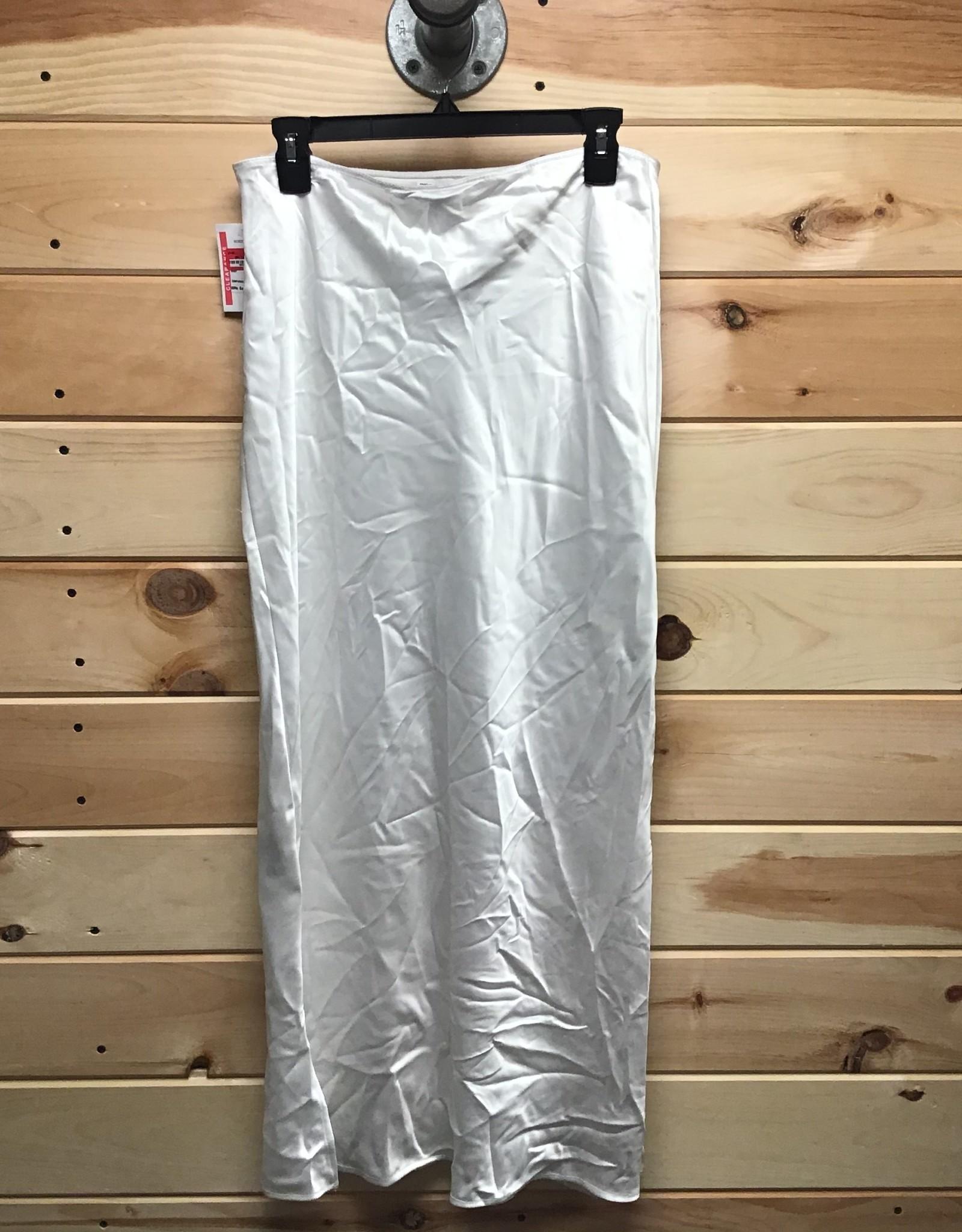 Topshop Topshop A-Line White Midi Skirt Sz 2