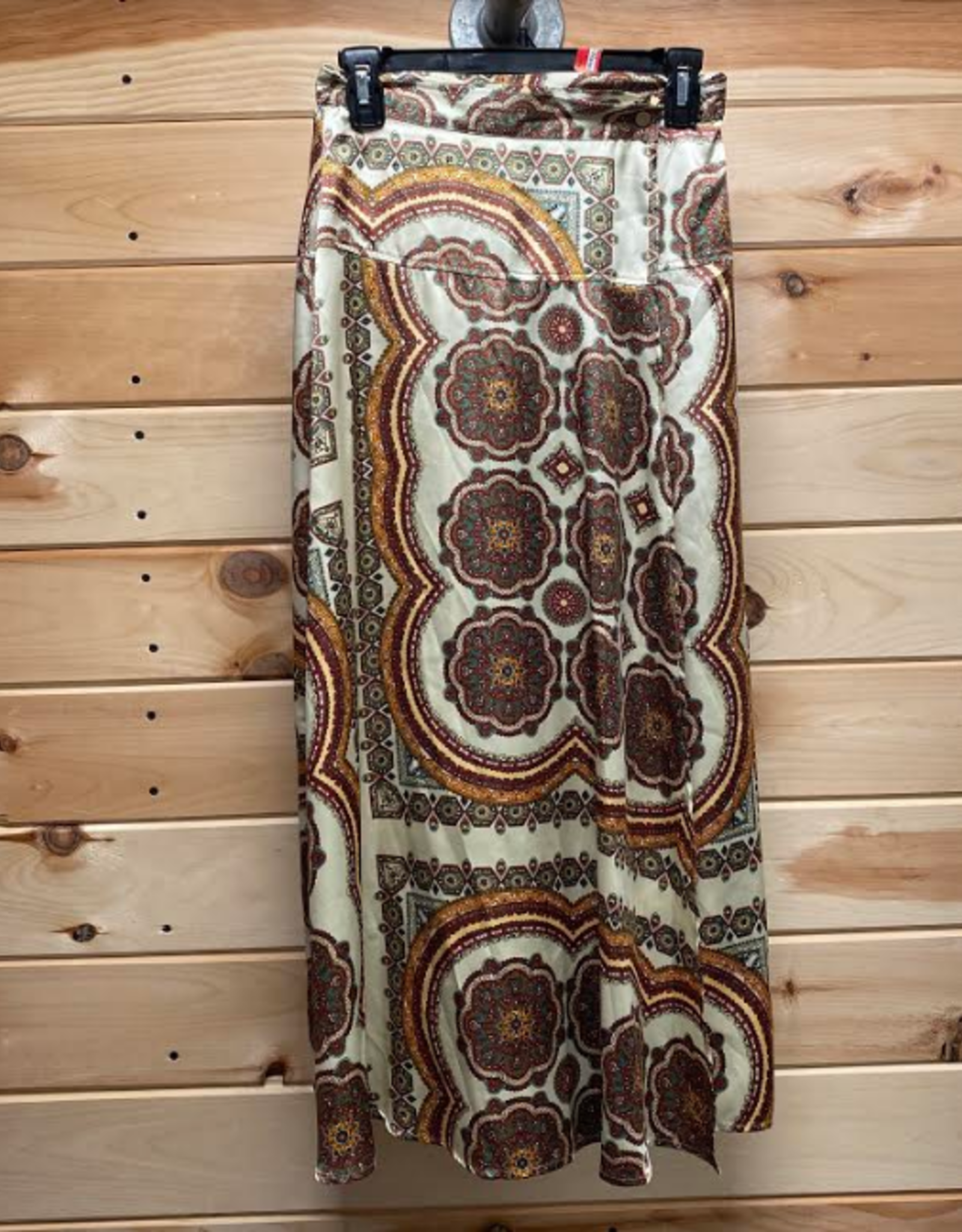 Topshop Topshop Paisley Print Satin Wrap Maxi Skirt Size 4