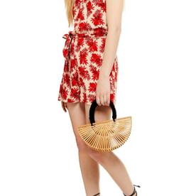 Topshop Topshop Palm Print Halter Minidress Size 6