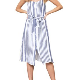 Rails Rails Clement Tie Waist Striped Dress Sz M
