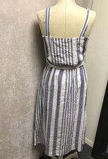 Rails Rails Clement Tie Waist Striped Dress Sz M