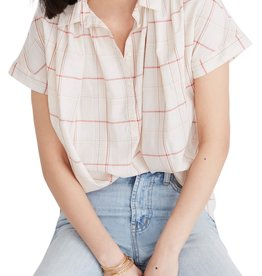 Madewell Madewell Central Fine Plaid Popover Shirt Sz M