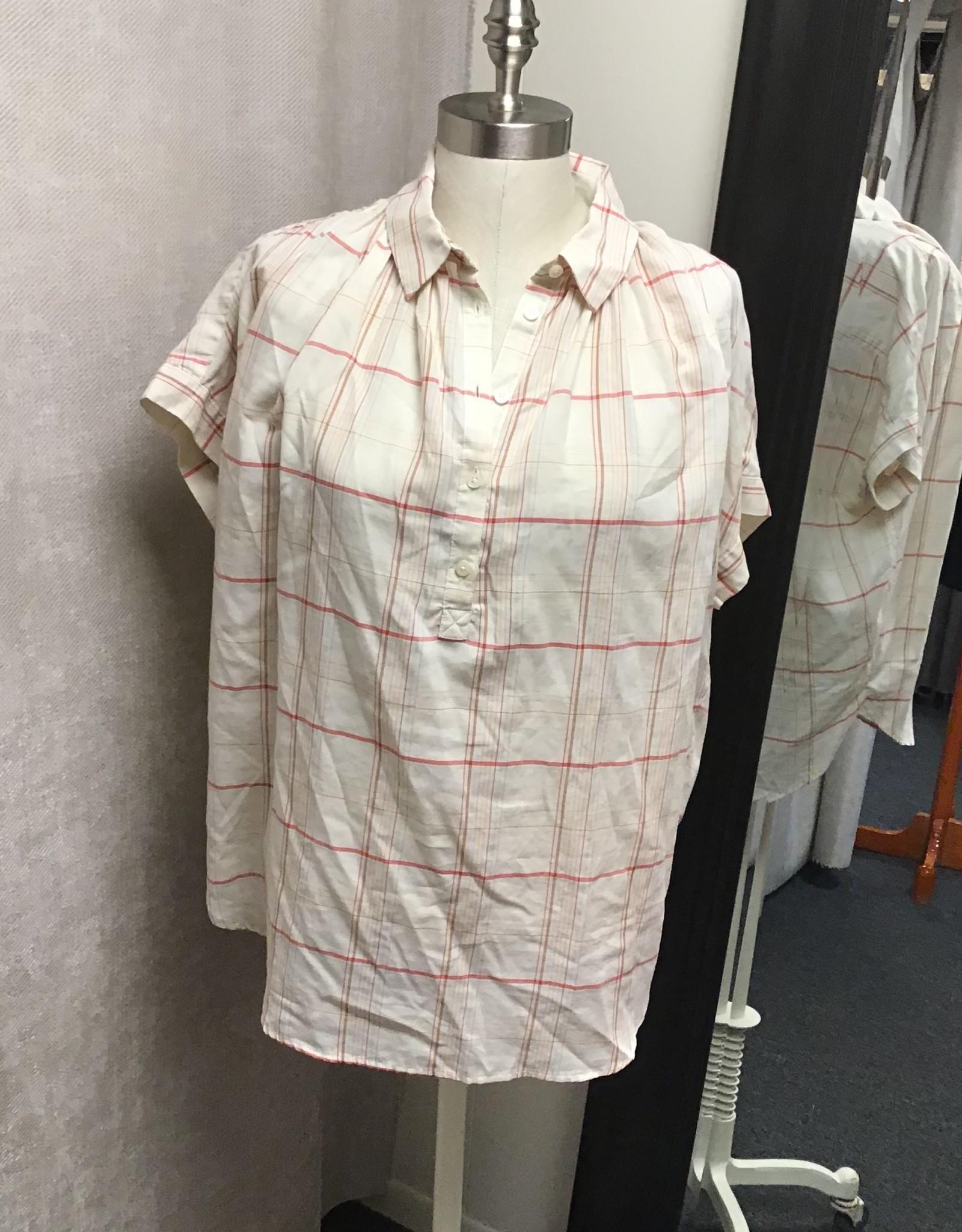 Madewell Madewell Central Fine Plaid Popover Shirt Sz M