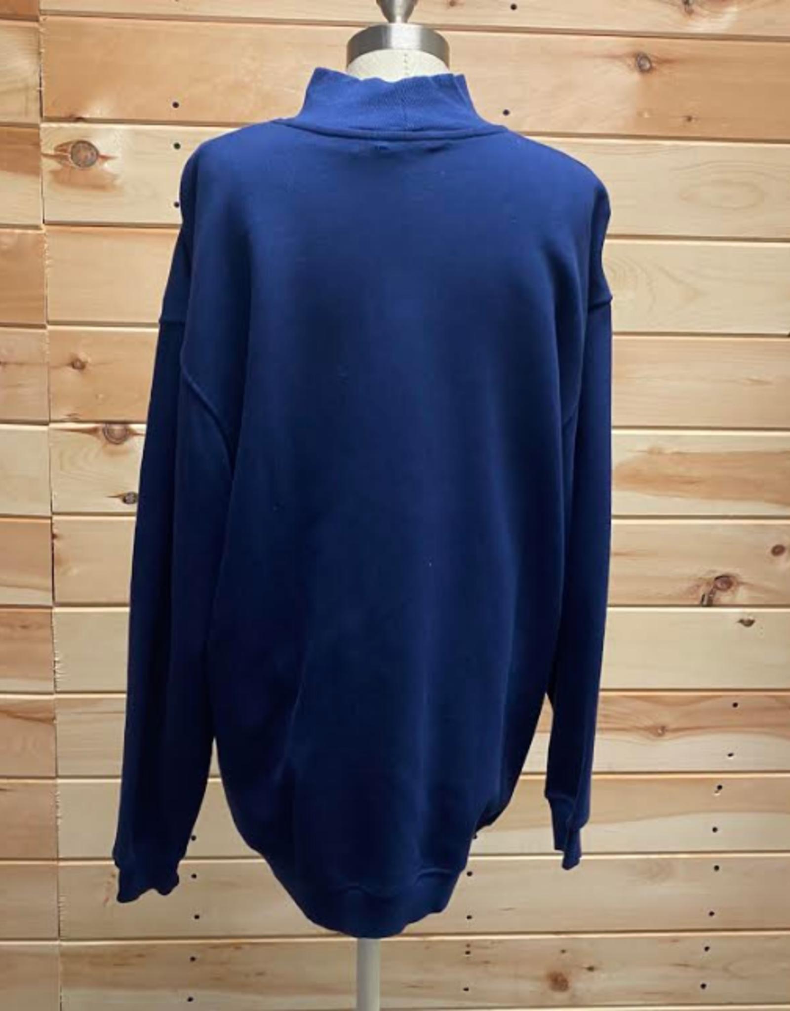 Topshop Topshop Oversized Mock Neck Sweatshirt Size 4