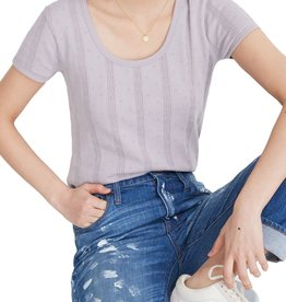 Madewell Madewell Pointelle Ribbed Tee Gray Sz XS