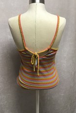 Madewell Madewell Tie Back Striped Rib Tank Sz M