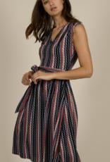Molly Bracken PM Graphic Pleated Midi Dress