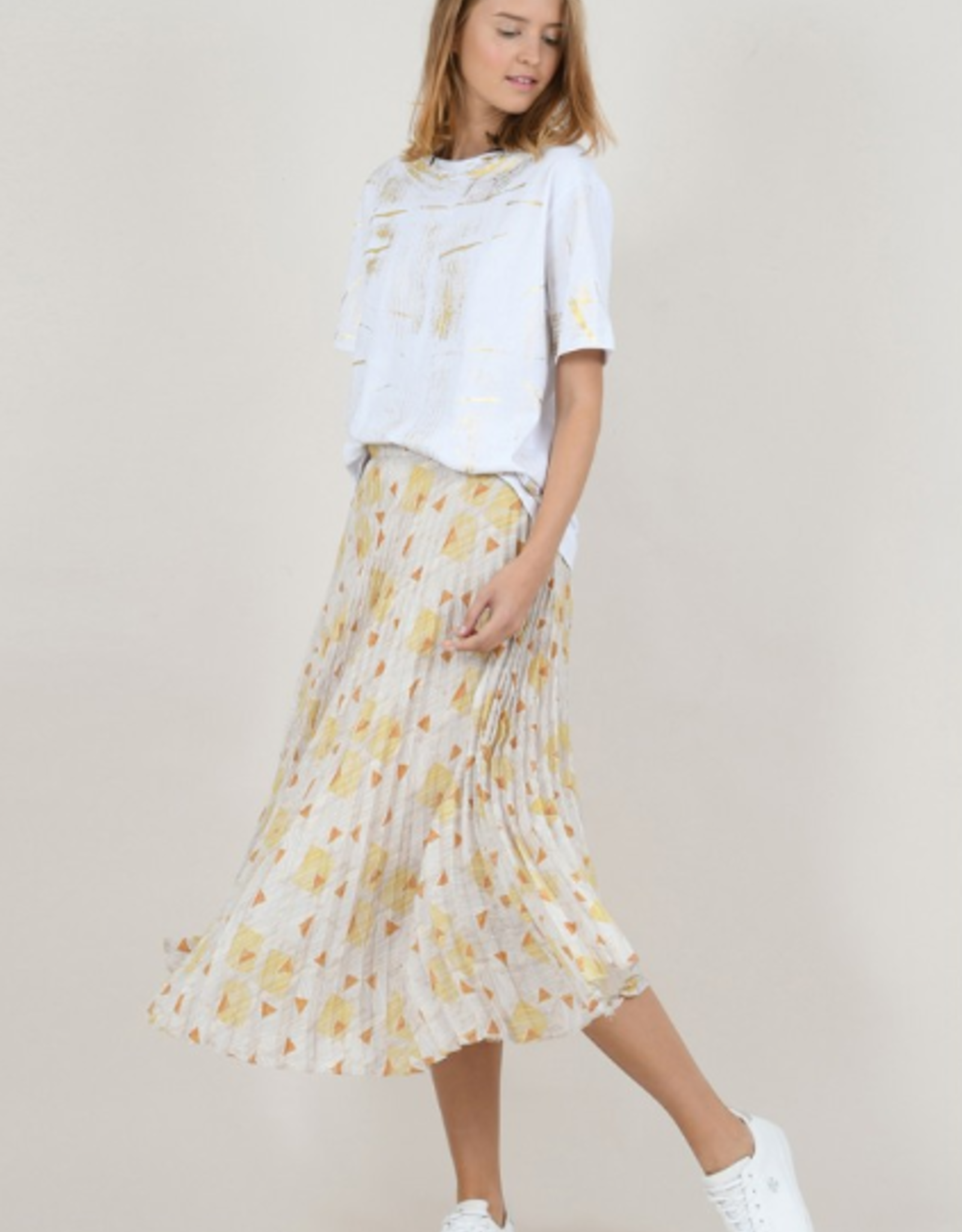 Molly Bracken Pleated Long Skirt