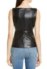 theory Theory Scoop Neck Faux Leather Tank Top Size P