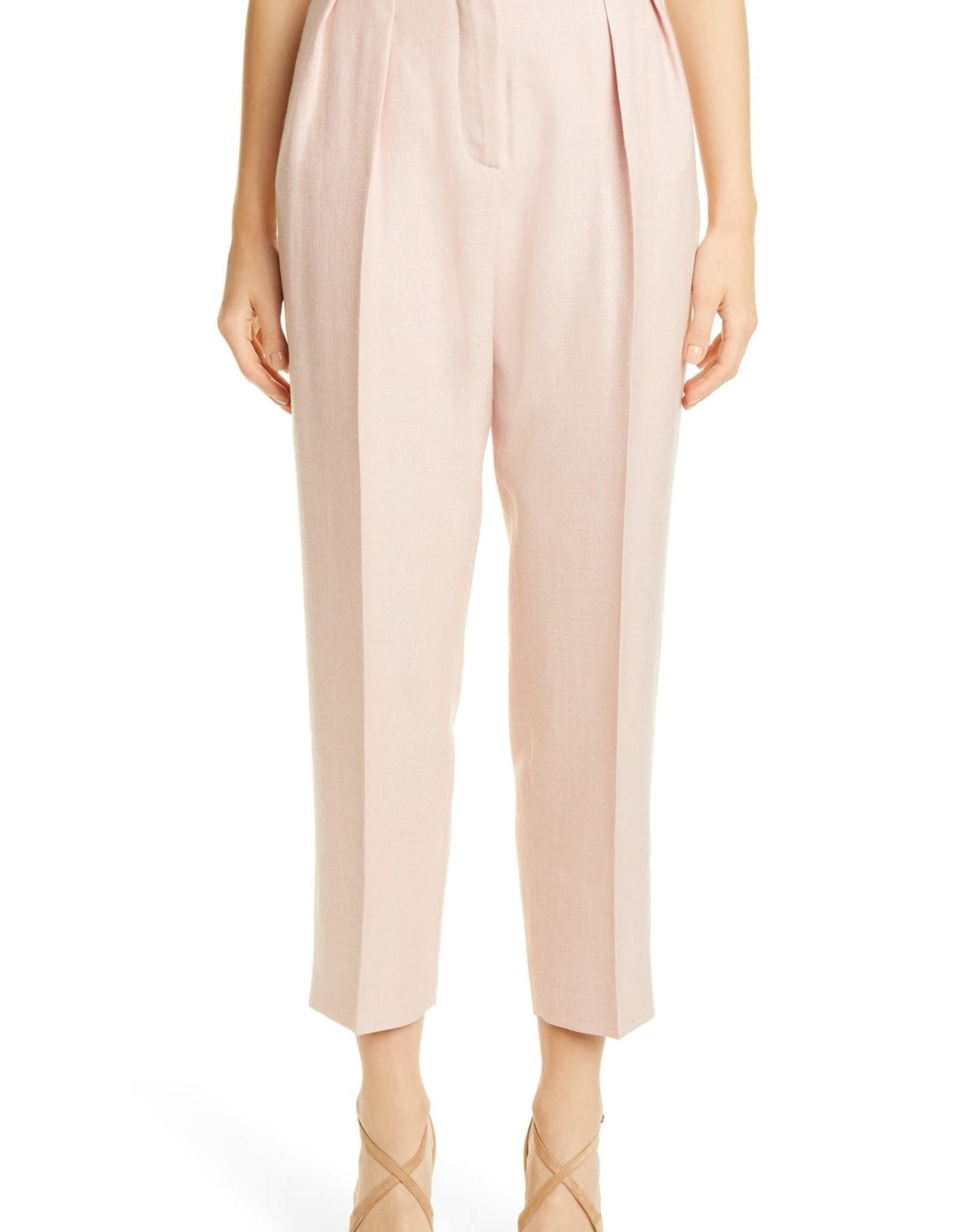 Max Mara Max Mara Mantide Pleated Silk Linen Pants Sz 12