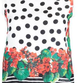 Dolce & Gabbana Dolce & Gabbana Polka Dot Silk Tank Top Sz 46
