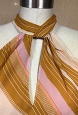 Joie Joie Cendra B Stripe Silk Top Sz L