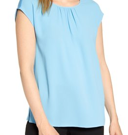 Vince Camuto Vince Camuto Gathered Neck Knit Back Top Sz PM