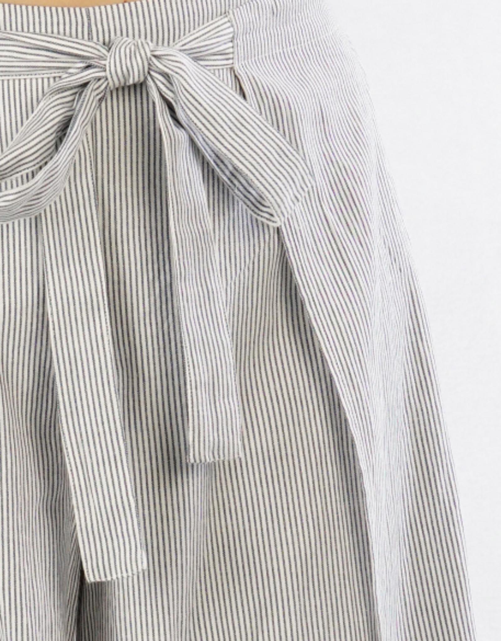 Love Stitch Railroad Stripe Wrap Pant