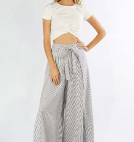 Love Stitch Railroad Stripe Wrap Pant