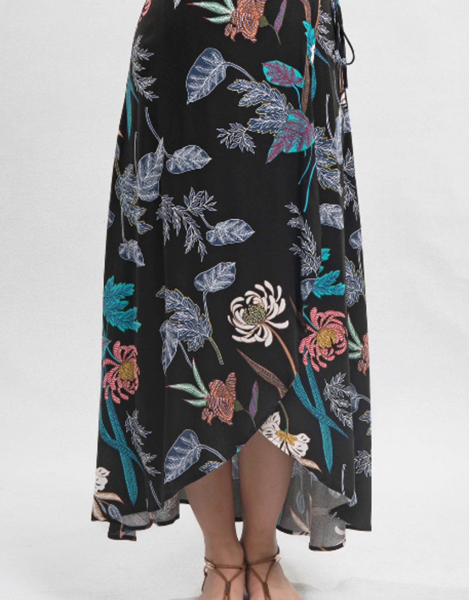 Love Stitch Printed Wrap Skirt w/Tie