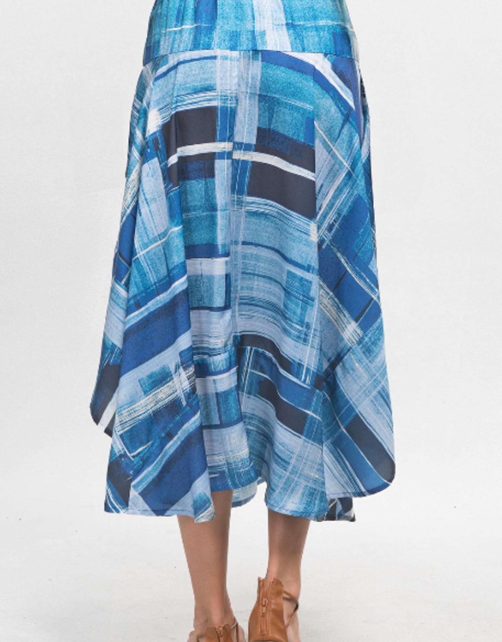 Love Stitch Hankerchief Belted Maxi Skirt