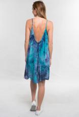 Love Stitch Tie Dye Trapeze Dress