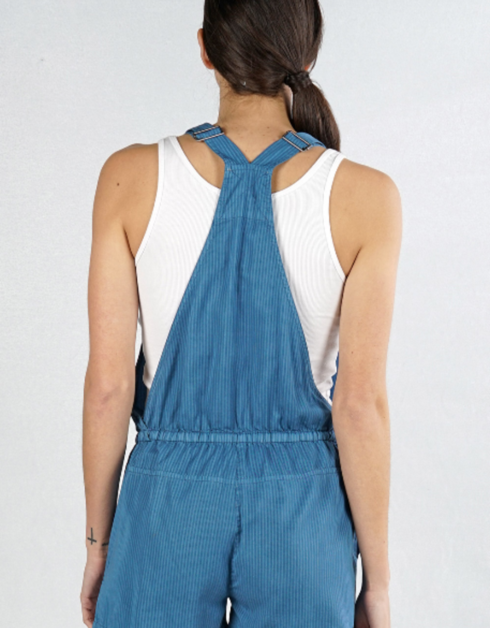 Love Stitch Mini Striped Short Overall