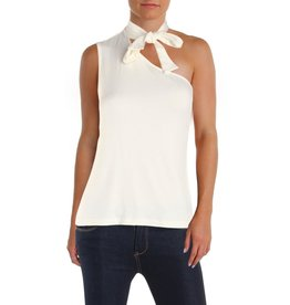 1 STATE 1. State Tie Neck One-Shoulder Top Ivory Sz M