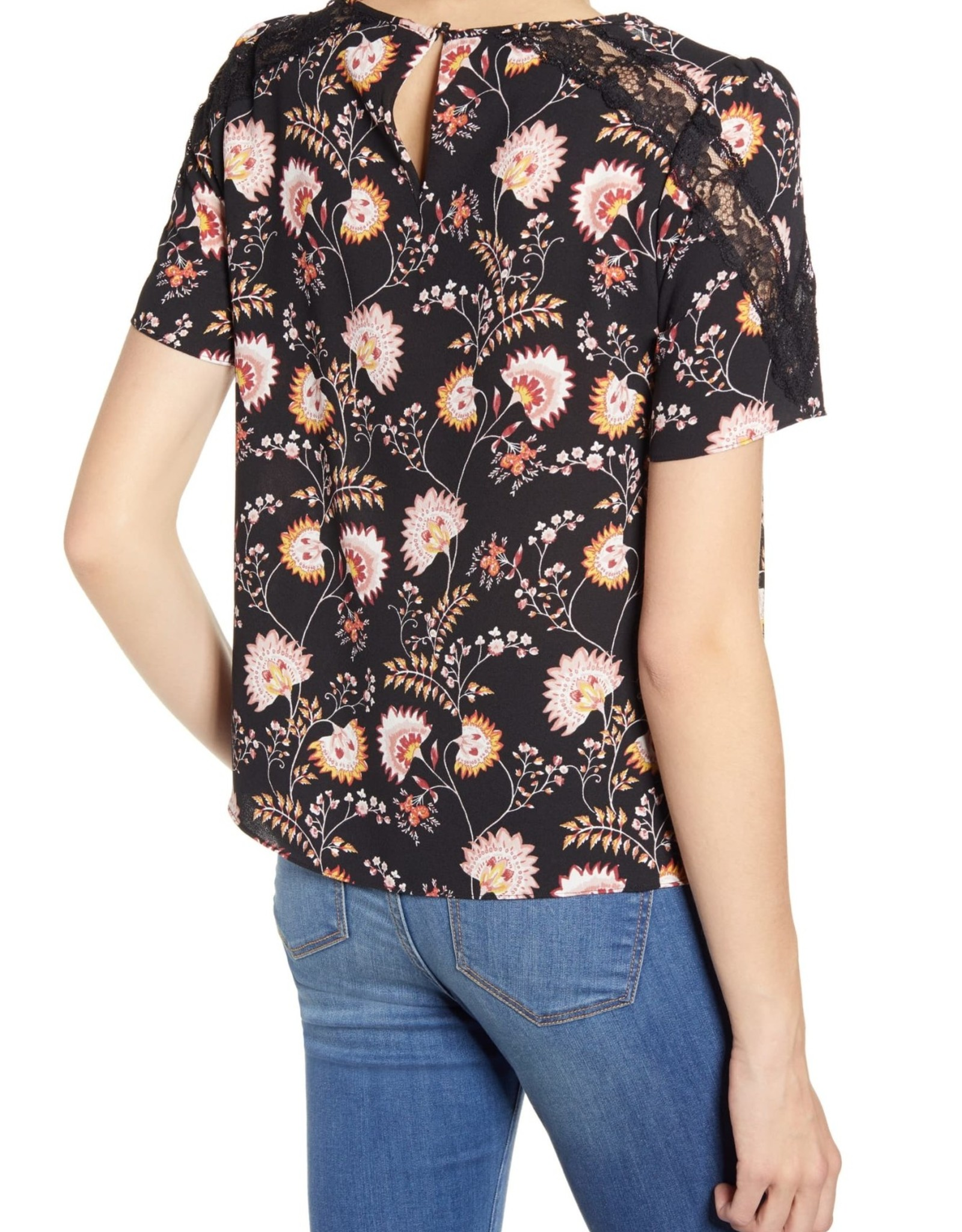 1 STATE 1. State Petal Leaf Garden Top Sz M