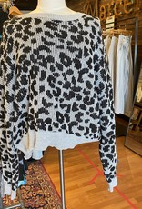 John+Jenn J&J Womens Dolman Sleeve Leopard Print Long Sleeve Sweater Size XL