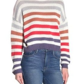 John+Jenn John+Jenn double Stripe V-Neck Sweater