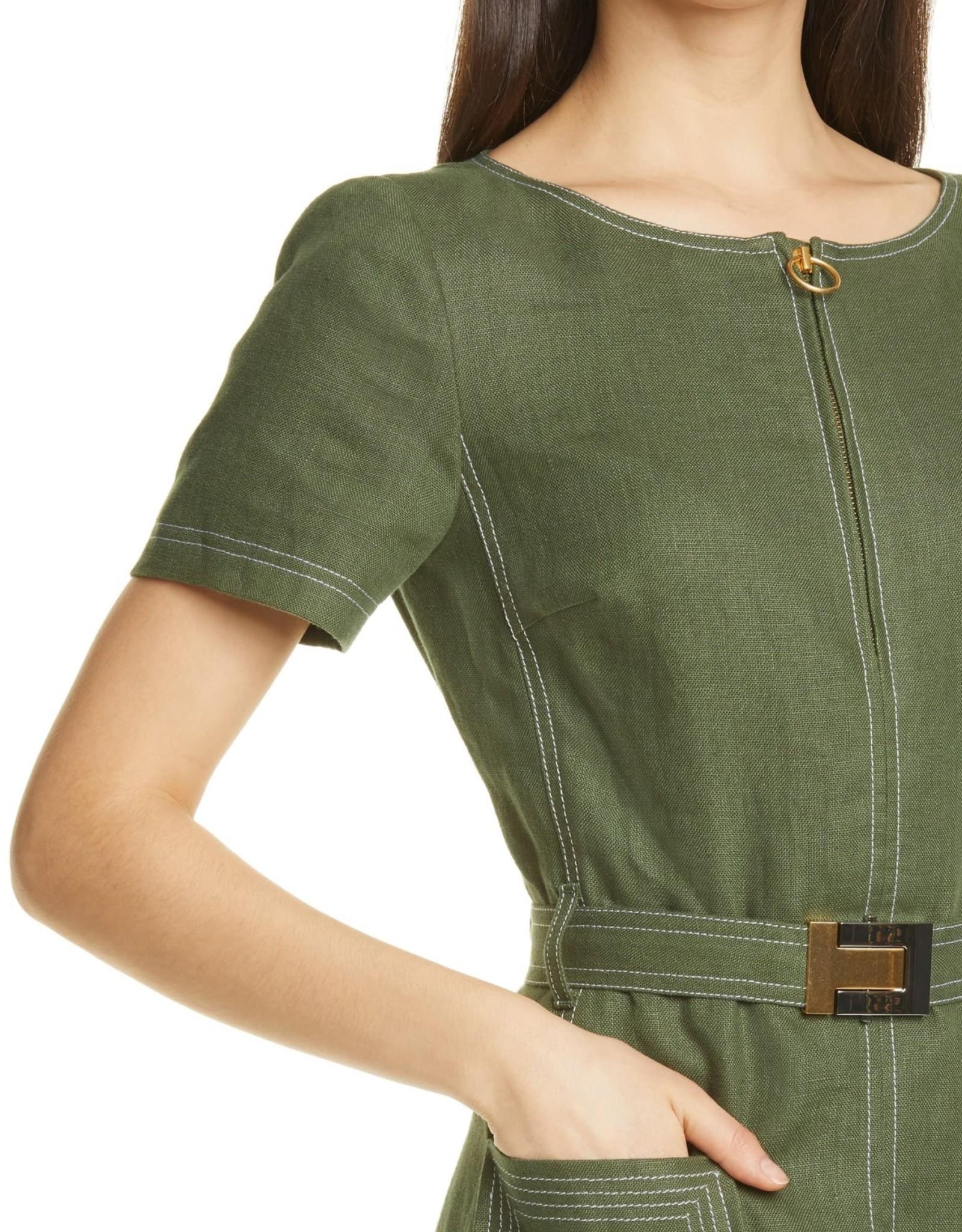 tory Burch Tory Burch S/S Linen Dress Sz 10