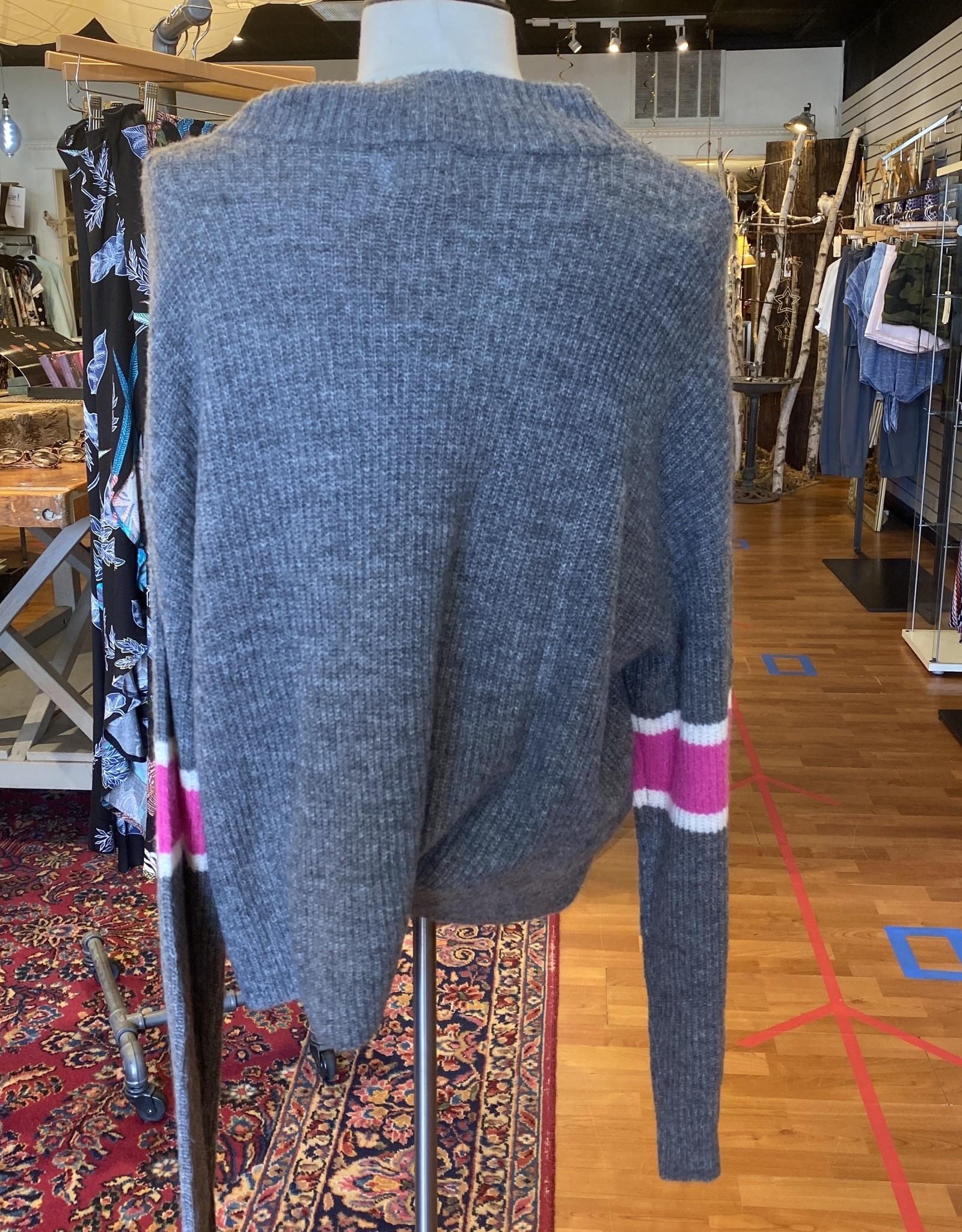 John+Jenn John & Jenn Varsity Stripe Mock Neck Pullover Sweater