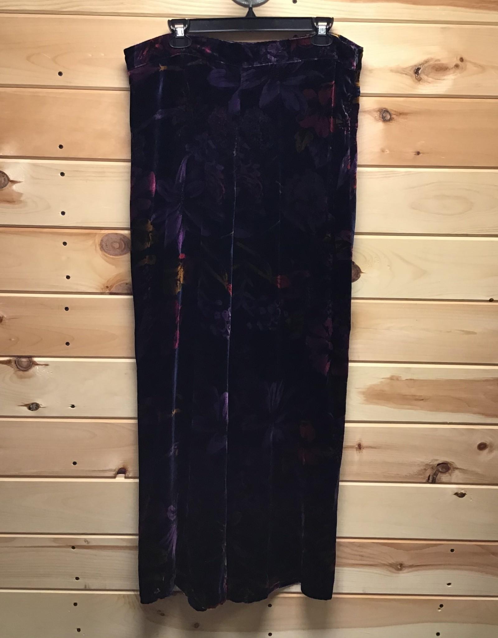TRINA TURK Trina Turk Penelope Floral Print Velour Pants Sz 12