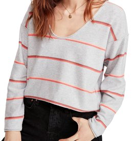 Free People Free People Make You Mine Stripe Sweater Sz L