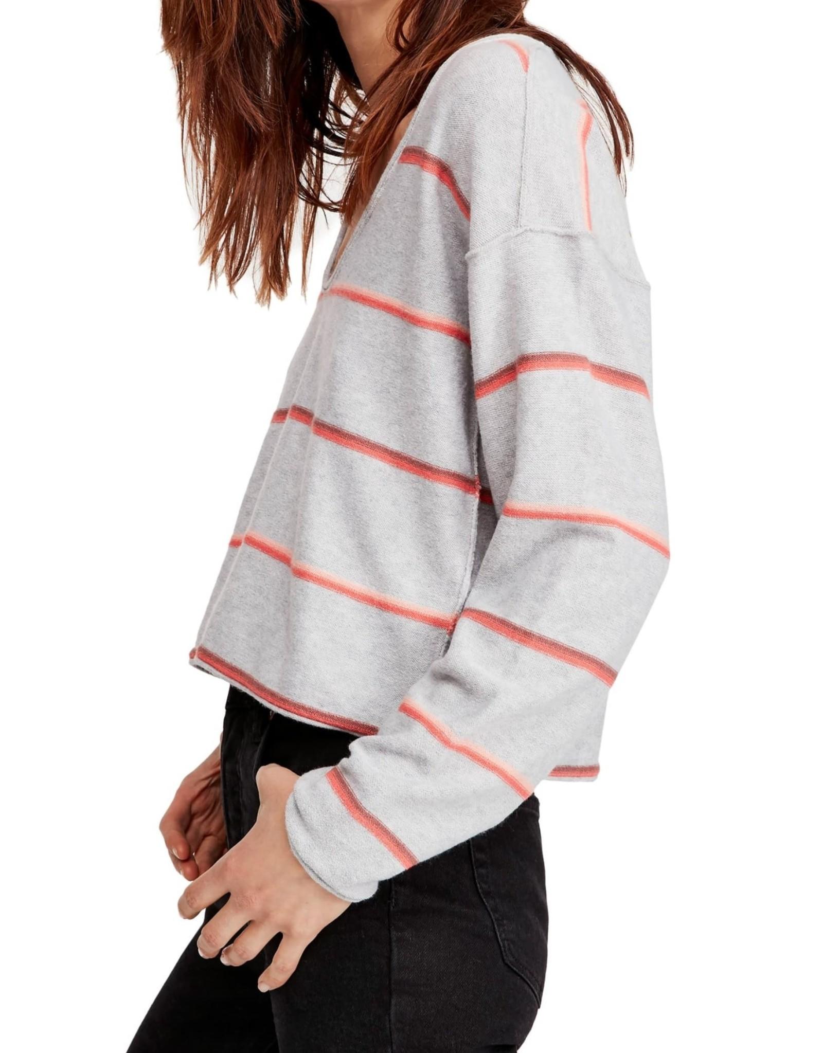 Free People Free People Make You Mine Stripe Sweater Sz L