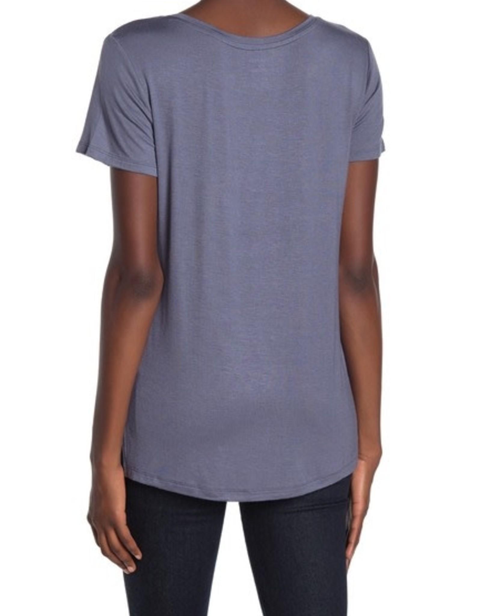 Halogen Halogen New Step Hem Crew Neck T-Shirt  Size XL