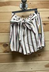 Halogen Tie Paperbag Waist Stripe Shorts Size XL