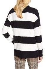 Halogen Halogen x Atlantic-Pacific Stripe V-Neck Sweater Sz L