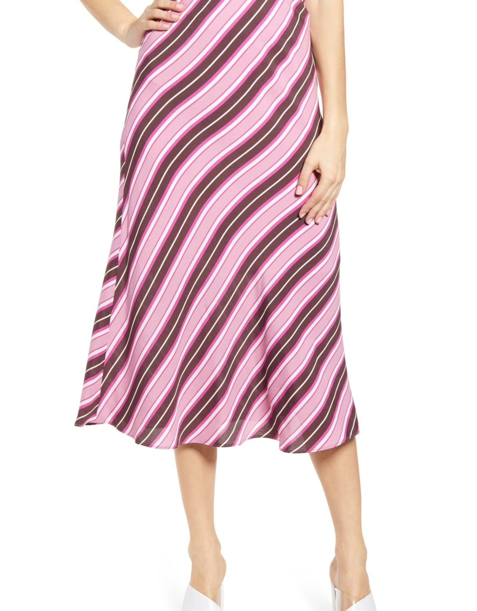 Leith Leith Bias Cut Midi Skirt