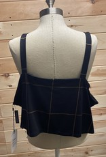 Leith Leith Plaid Crop Ponte Tank Top Size 3X